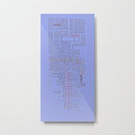 Stitches: City lines Metal Print