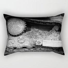 Ivan Caterpillar Track Black and White Rectangular Pillow