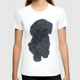 Black puppy commission T-shirt
