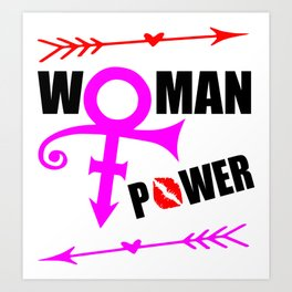 woman power funny feminist quote Art Print