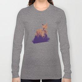 Sillhouette of fox Long Sleeve T-shirt