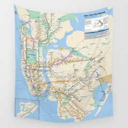 New York City Metro Subway Map Wall Tapestry