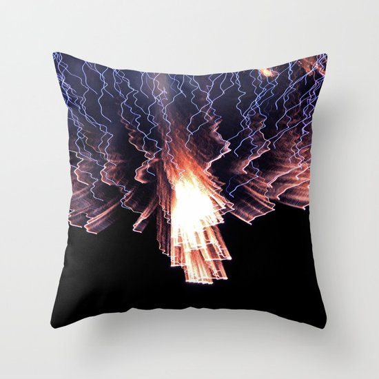 Cloud of fire Throw Pillow
