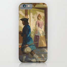 Franklin's Arrival in Philadelphia, 1923 by Newell Convers Wyeth iPhone Case