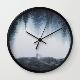 Lost in the forest Wall Clock