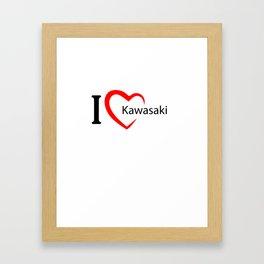 Kawasaki. I love my favorite city. Framed Art Print