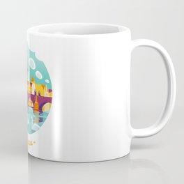 Prague and swans Coffee Mug