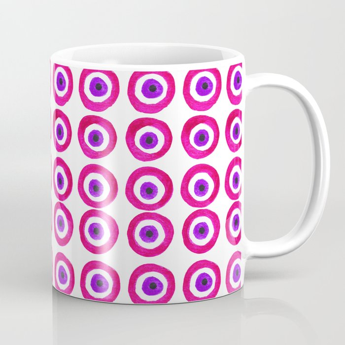 Evil Eye Amulet Talisman in Pink Coffee Mug