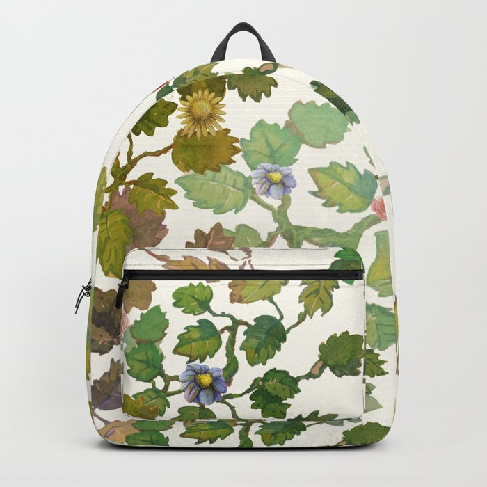 water color garden with flowers! ( Backpack