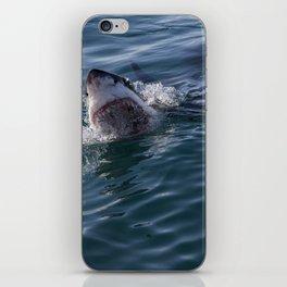 Great White Shark smiles iPhone Skin