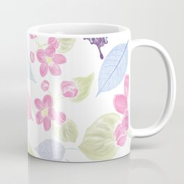 seamless  floral pattern with butterfly . Endless texture Coffee Mug