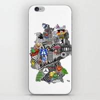 germany iPhone & iPod Skins featuring Germany Doodle by Rebecca Bear