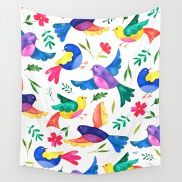 Mexican Birds Wall Tapestry