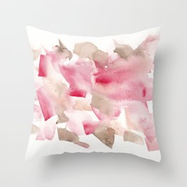 180713 Abstract Watercolour Red 13| Watercolor Brush Strokes Throw Pillow