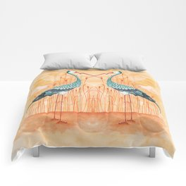 An Exotic Stork Comforters