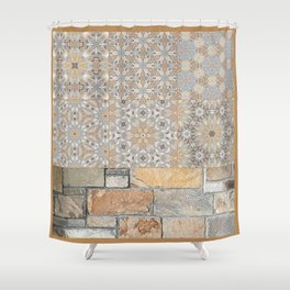 The Alamo Wall Collage 6396 Shower Curtain