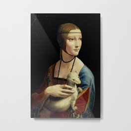 Leonardo da Vinci - The Lady with an Ermine Metal Print