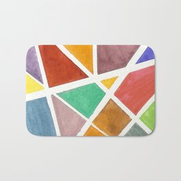 Glass Stained Bath Mat