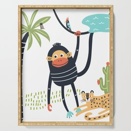 Monkey Business Serving Tray