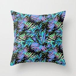 Bright Palm Throw Pillow