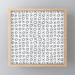 Xoxo Valentine's Day - Ultimate Gray Framed Mini Art Print