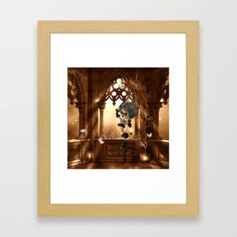 Little dark fairy in the night Framed Art Print