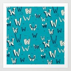 Letter Patterns, Part W Art Print