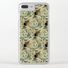 Abstract pattern , spiral. Clear iPhone Case