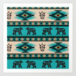 American Native Pattern No. 126 Art Print