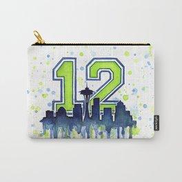 Seattle 12th Man Fan Art Seattle Space Needle Carry-All Pouch