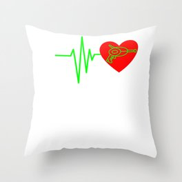 Funny Laser Tag Party T-Shirt Mode On I love laser tag Throw Pillow
