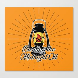 Midnight Oil - Orange Canvas Print