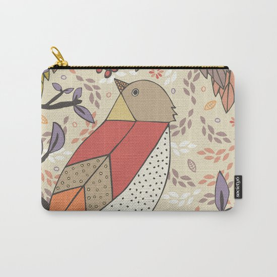 Singing Red Bird Carry-All Pouch