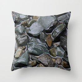 rocks in the rain Throw Pillow