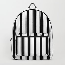 Black and white vertical stripes Backpack