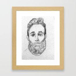 Sketchy Sweet Beardy Man Framed Art Print