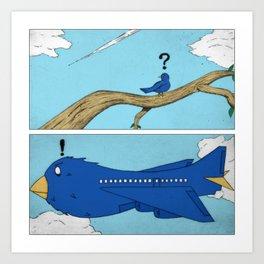 Daydreaming Bird Art Print