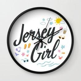 Jersey Girl Wall Clock
