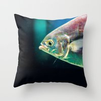 swim Throw Pillows featuring Swim by Iain Christopher Mclellan Bastidas