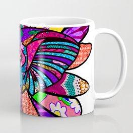 Purple African Colorful Elephant Coffee Mug