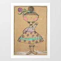 Colored Pencil Girl Illustration Art Print