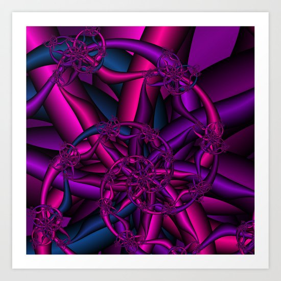 Pink Purple and Blue Art Print