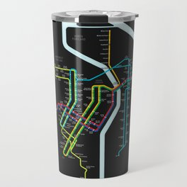 Rail Transit of Portland, Oregon Travel Mug