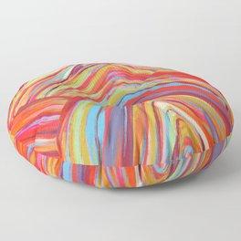 Rainbow Mountain Floor Pillow