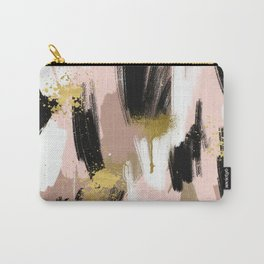 Blush and Gold Abstract Carry-All Pouch
