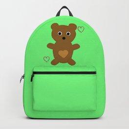 Illustrated Bear Print Backpack