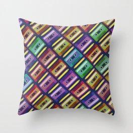 90s pattern Throw Pillow