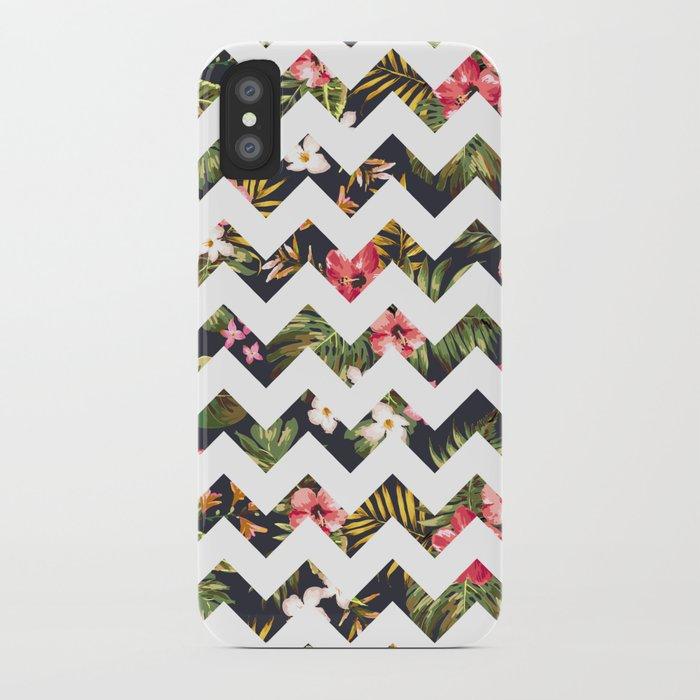 Floral Chevron iPhone Case
