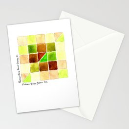 Color Chart - Quinacridone Burnt Orange DS and Phthalo Yellow Green DS Stationery Cards