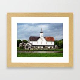 Star Barn Framed Art Print